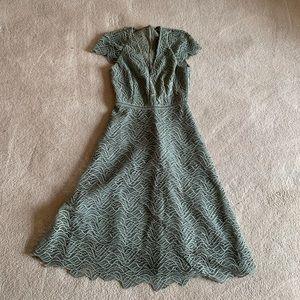Reiss green night dress